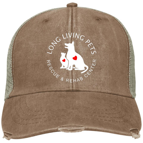 Long Living Pets Rescue and Rehab Center Distressed Adams Ollie Cap