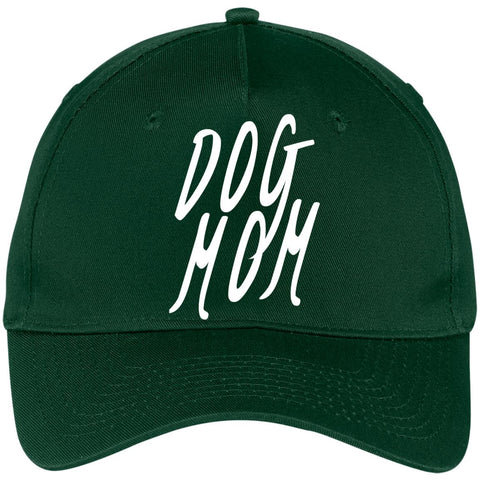 Image of Dog Mom Five Panel Twill Cap, 100% Cotton, Available in 6 different colors.