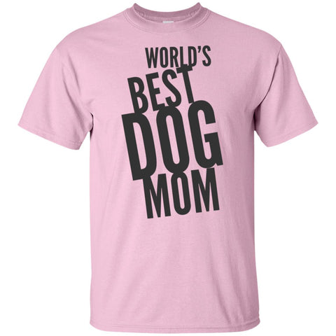 Image of Word's Best Dog Mom  Cotton T-Shirt