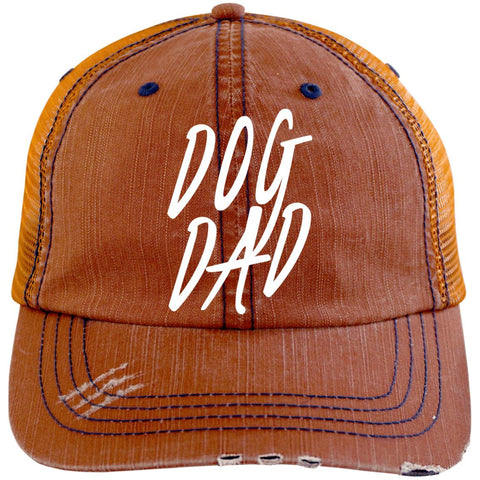 Image of Dog Dad Cap - Distressed Unstructured Trucker Cap