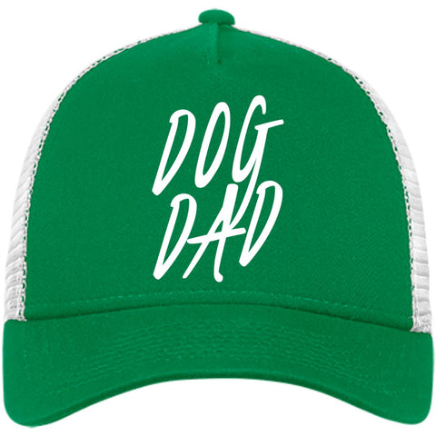 Image of Dog Dad New Era® Snapback Trucker Cap, 100% Cotton, Embroidery