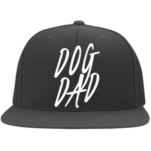 Dog Dad Cap - Flat Bill Twill Flexfit Cap