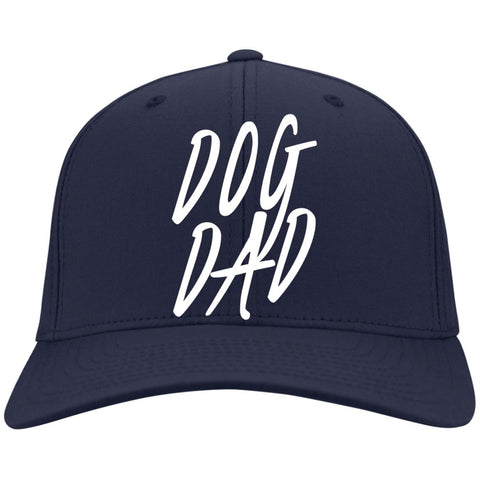Image of Dog Dad Port Authority Flex Fit Twill Baseball Cap
