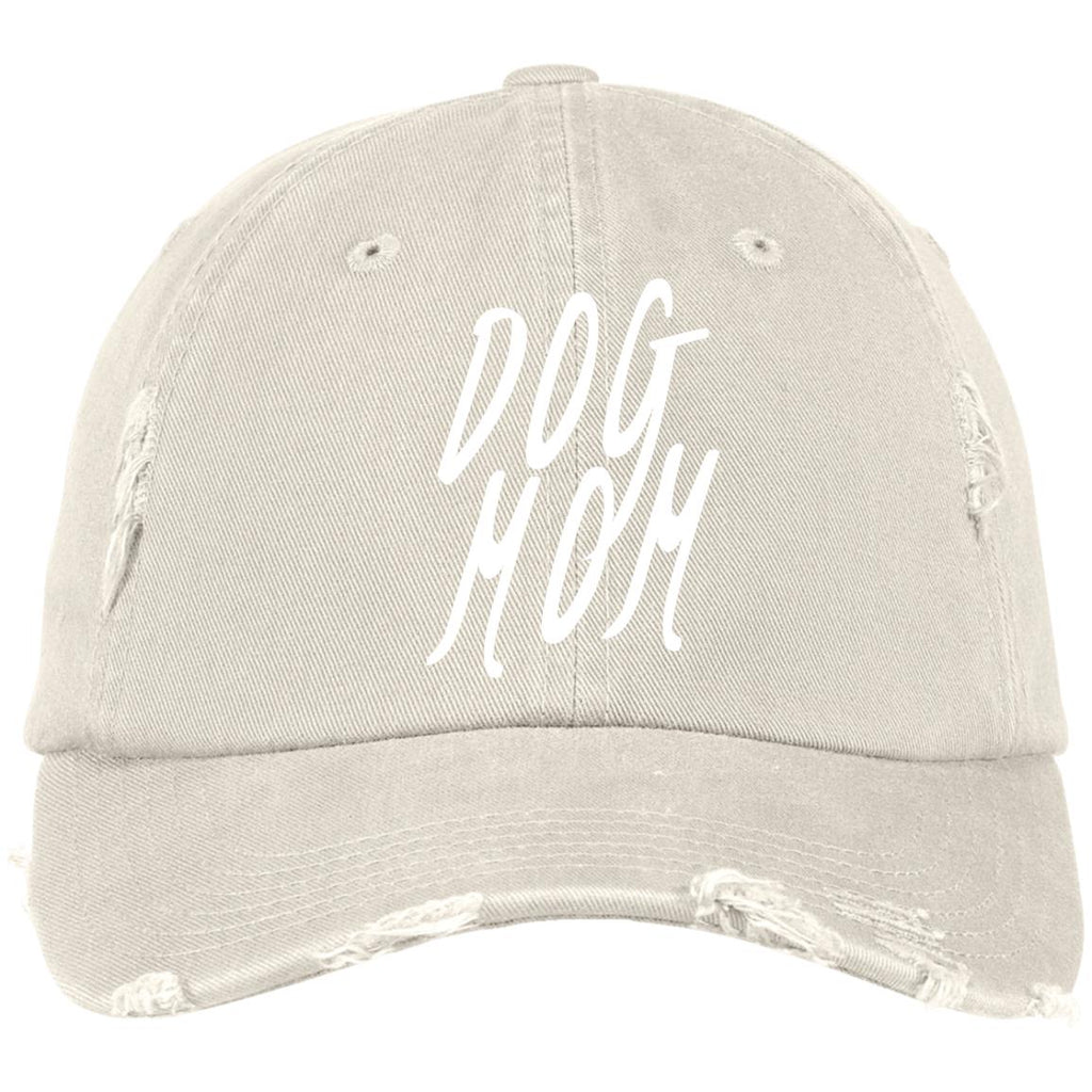 Dog Mom Cap  District Distressed Cap, 100% Cotton. Available in 10 Different colors