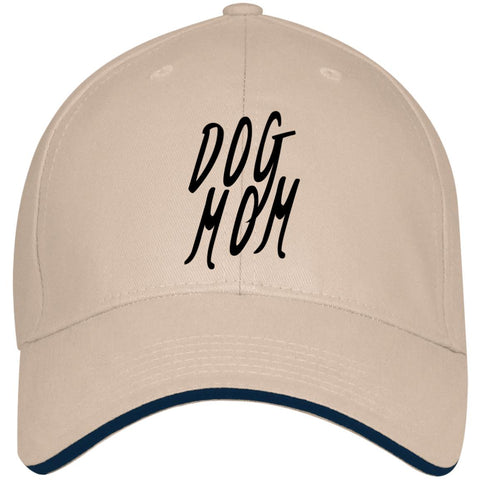 Image of Dog Mom Cap With Sandwich Visor, USA Made