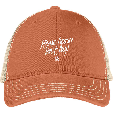 Image of Please Rescue Don't Buy - District Mesh Back Cap