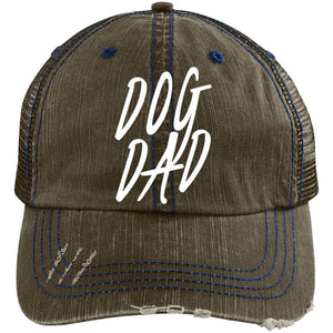 Dog Dad Cap - Distressed Unstructured Trucker Cap