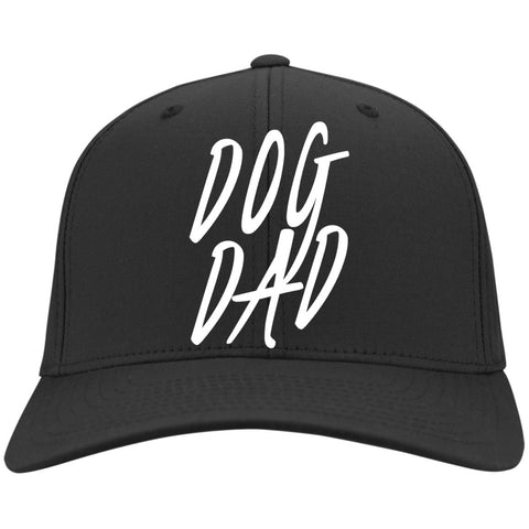 Dog Dad Twill Cap - 6 colors, 100% Cotton, Embroidered, adjustable hook and loop closure.