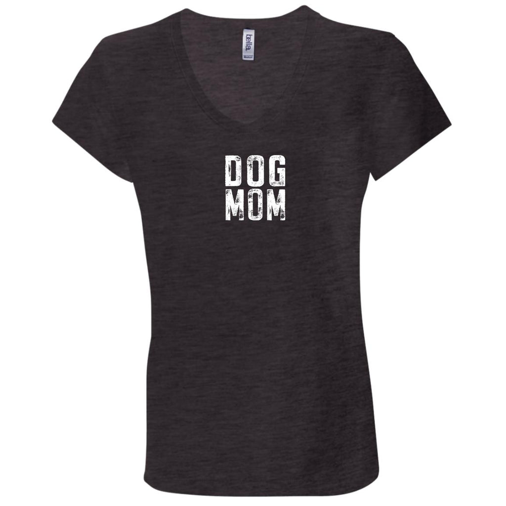 Dog Mom Canvas Ladies' Jersey V-Neck T-Shirt