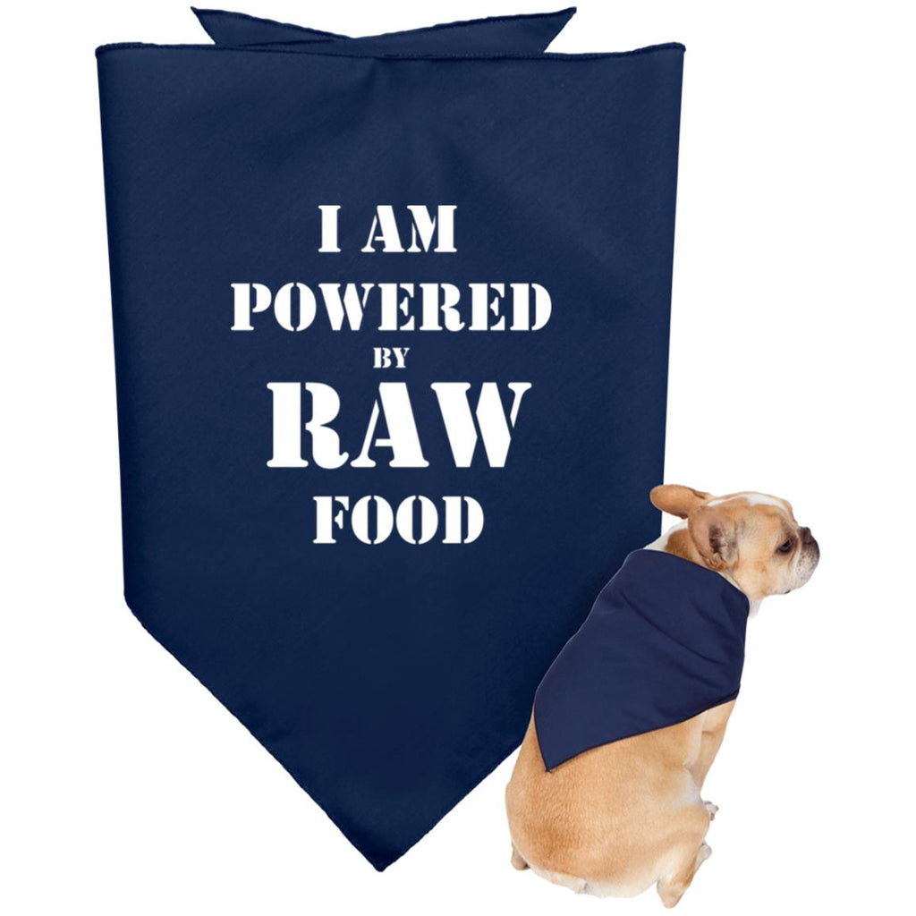 I am Powered by Raw food Doggie Bandana