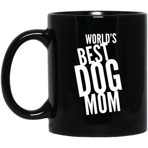 World's Best Dog Mom 11 oz. Black Mug