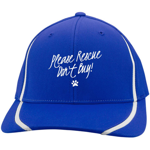 Image of Please Rescue Don't Buy - Sport-Tek Flexfit Colorblock Cap