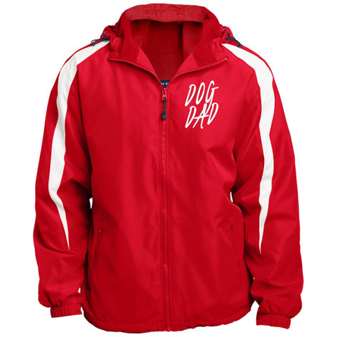 Image of JST81 Sport-Tek Fleece Lined Colorblocked Hooded Jacket