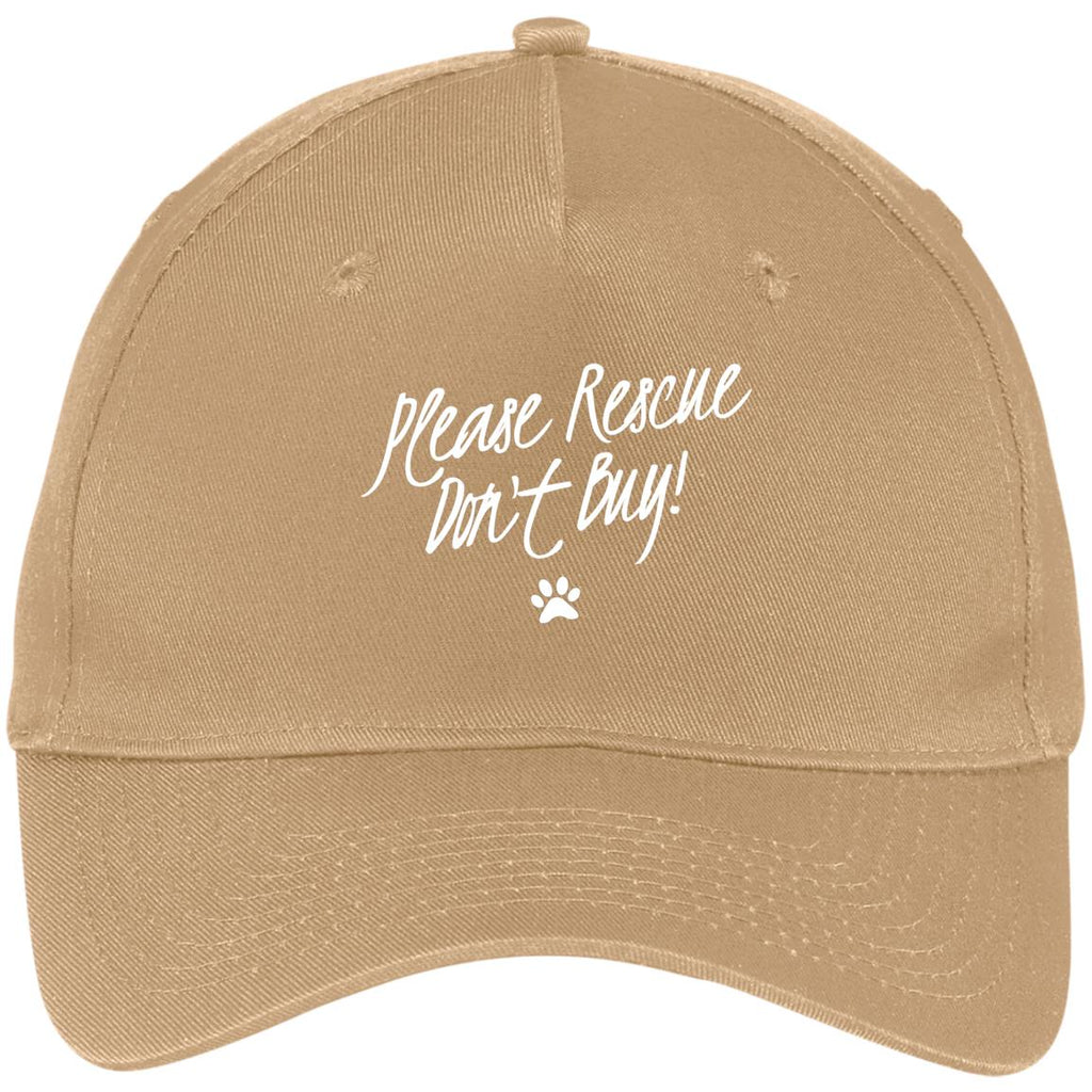 Please Rescue Don't Buy - Five Panel Twill Cap