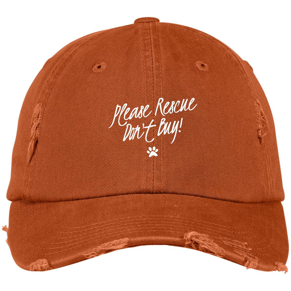 Please Rescue Don't Buy District Distressed Dad Cap