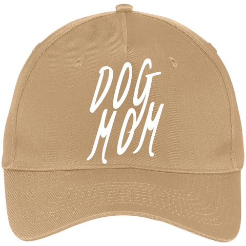 Dog Mom Five Panel Twill Cap, 100% Cotton, Available in 6 different colors.