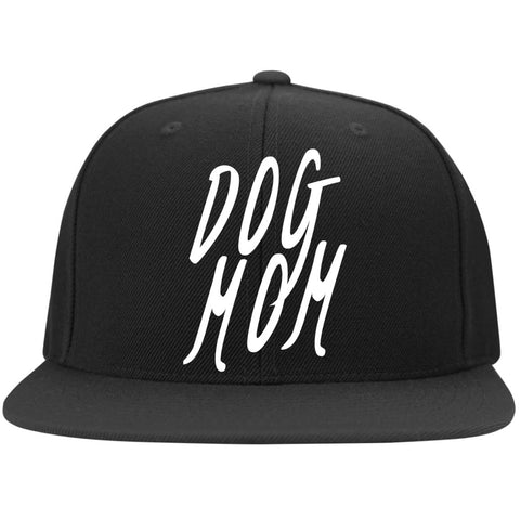 Image of Dog Mom Cap - Yupoong Flat Bill Twill Flexfit Cap