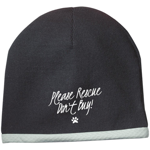 Please Rescue Don't Buy -  Sport-Tek Performance Knit Cap