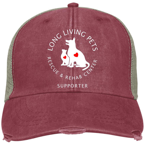 Image of Long Living Pets Rescue and Rehab Center Distressed Adams Ollie Cap - Supporter
