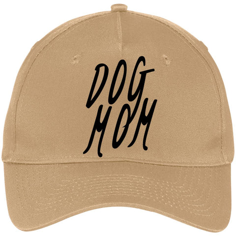Dog Mom Five Panel Twill Cap, 100% Cotton.