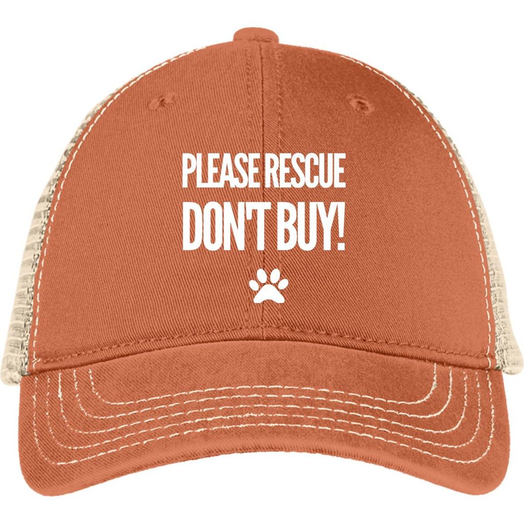 Please Rescue Don't Buy - District Mesh Back Cap