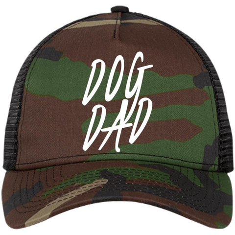 Dog Dad New Era® Snapback Trucker Cap, 100% Cotton, Embroidery