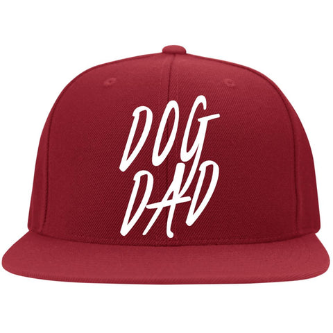 Image of Dog Dad Cap - Flat Bill Twill Flexfit Cap
