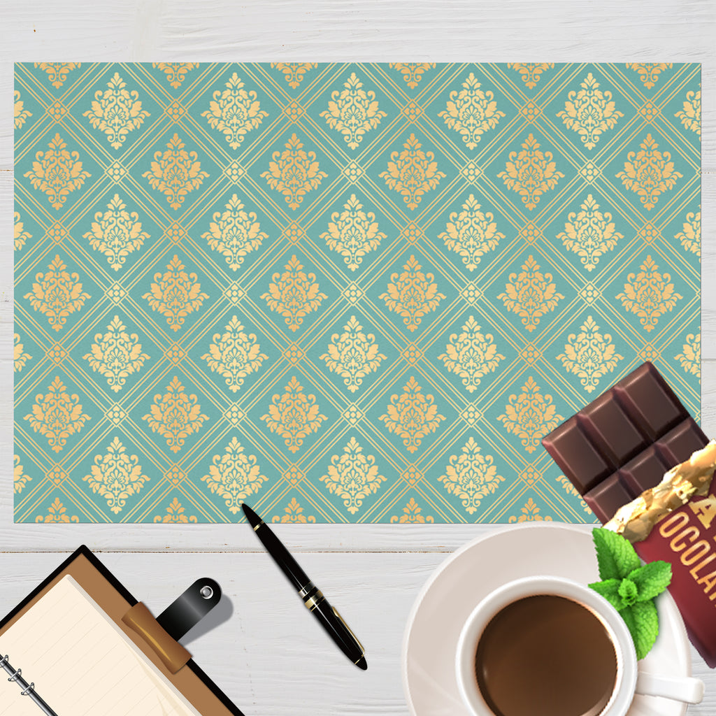 Elegant Gold and Teal Pattern Placemat