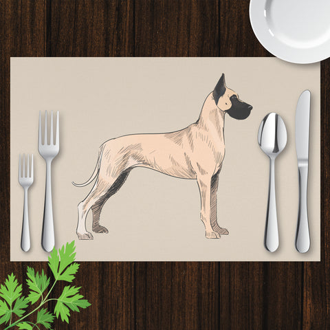 Image of Placemat with Great Dane Design