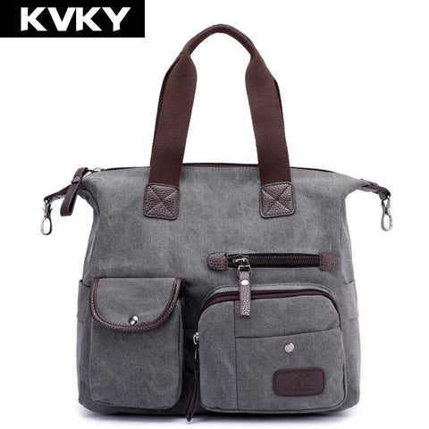 Large Women Shoulder Handbag - High-Quality Canvas