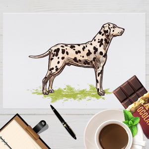 Placemat with Hand drawn Dalmatian Design