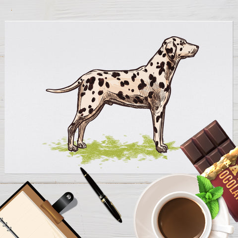 Image of Placemat with Hand drawn Dalmatian Design