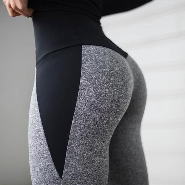 Star Fit Patchwork Workout Leggings - No See Through
