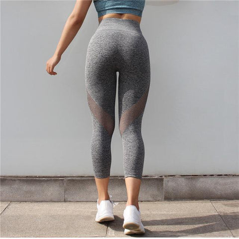 Mesh Push Up Capri Leggings for Workout, Yoga and Other Fitness Activities.
