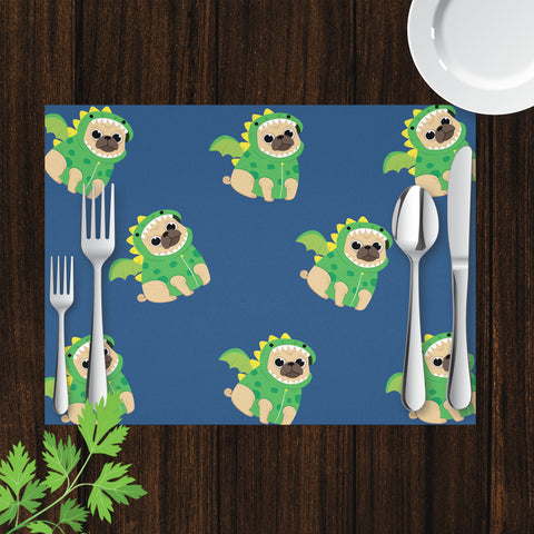 Placemat with Pug in Dragon Costume Design