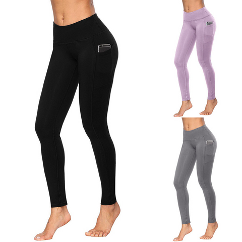 Image of Women's  Elastic High Waist Push Up Leggings with pockets