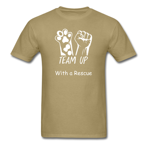 Team Up with a Rescue Men's T-Shirt - khaki
