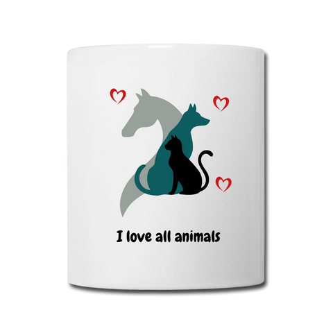 Image of I love all animals Coffee/Tea Mug - white