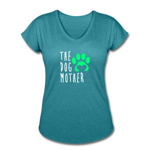 The Dog Mother - Women's Tri-Blend V-Neck T-Shirt