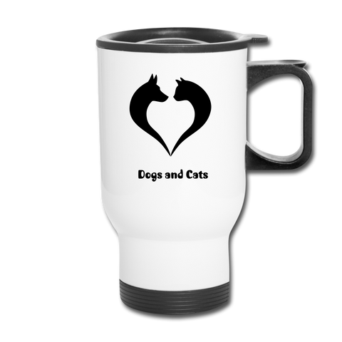 Image of I love Dogs and Cats Travel Mug - white