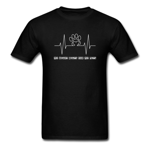 Image of My Heart Beats for my Pets Men's T-Shirt - black