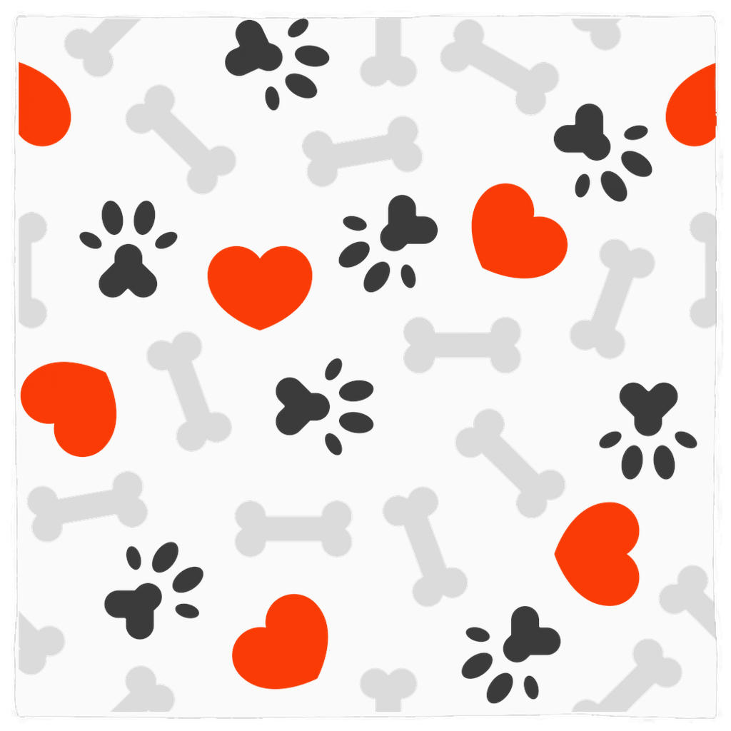 Hearts, Paws and Bones Bandana for Dog Lovers