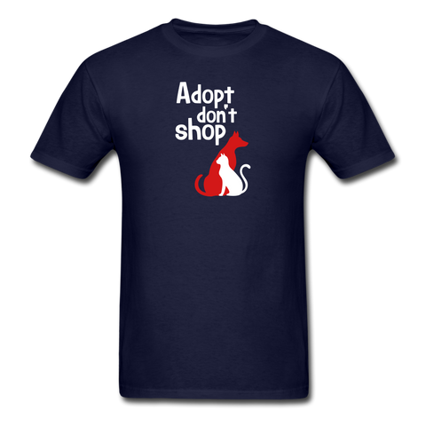 Adopt don't Shop Men's T-Shirt - navy