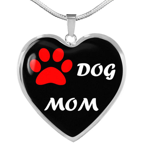 Image of Dog Mom Heart Pendant