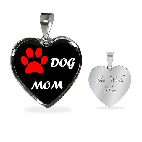 Dog Mom Heart Pendant
