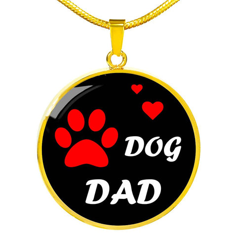 Image of Dog Dad Necklace