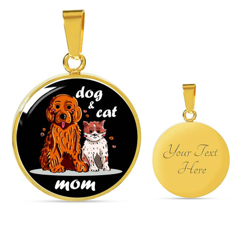 Image of Dog and Cat Mom Necklace - high quality