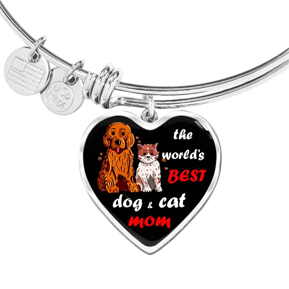 The World's Best Dog and Cat Mom Bangle