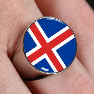 Iceland High Quality Flag Ring - Perfect gift for a Icelandic or someone that loves Iceland.