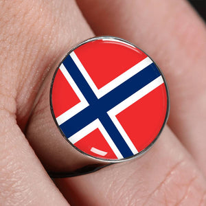 Norwegian High Quality Flag Ring - Perfect gift for a Norwegian or someone that loves Norway.